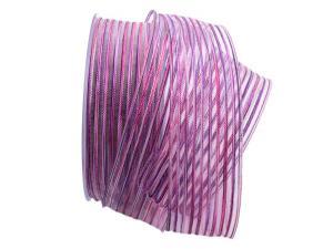 Streifenband Strisce lila 40mm mit Draht