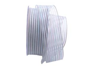 Streifenband Strisce weiß 40mm mit Draht