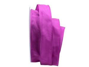 Uniband SONDERFARBE bischof / pink 25mm mit Drahtkante