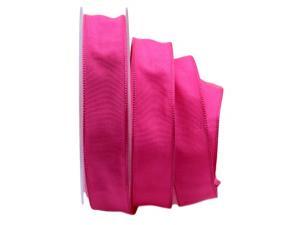 Uniband SONDERFARBE pink 25mm mit Drahtkante