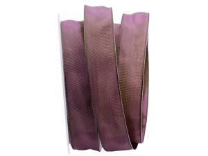 Uniband SONDERFARBE lila / grün 25mm mit Drahtkante