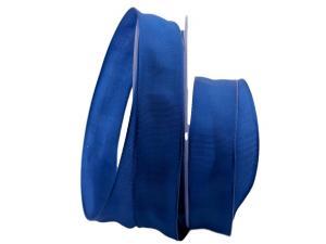Uniband SONDERFARBE blau 25mm mit Drahtkante