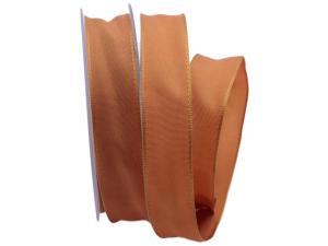 Uniband SONDERFARBE braun / lachs 25mm mit Drahtkante