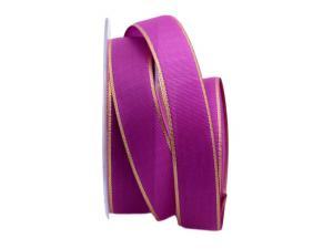Uniband Goldkante pink 25mm mit Draht