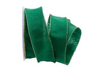 Uniband NATURAL grün mit Draht 40mm