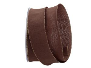 Uniband NATURAL braun mit Draht 40mm