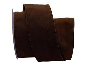 Uniband SONDERFARBE dunkelbraun ca. 60mm mit Draht - im Bänder Großhandel günstig kaufen!