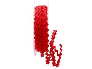 Zackenlitze Baumwolle 3-4mm rot ohne Draht