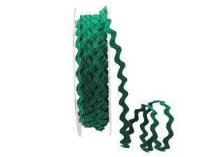Zackenlitze Baumwolle 5mm grün ohne Draht