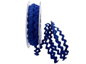 Zackenlitze Baumwolle 7mm blau ohne Draht
