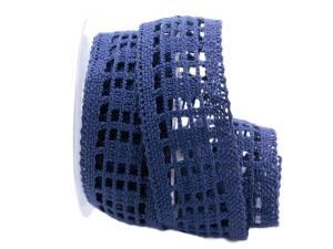 Dekoband Spitze blau 50mm ohne Draht - Geschenkband günstig online kaufen!