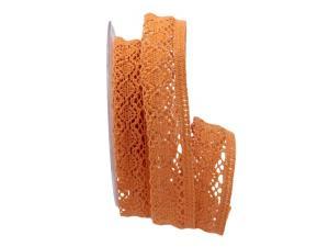 Dekoband Spitze orange / lachs 25mm ohne Draht