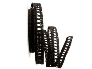 Dekoband Spitze schwarz 15mm ohne Draht