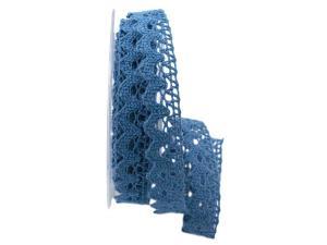 Dekoband Spitze blau 20mm ohne Draht - Geschenkband günstig online kaufen!