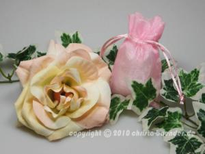 Organzasäckchen 7,5 x 10cm Rosa 10 Stück