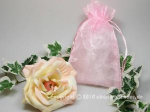 Organzasäckchen 12,5 x 17,5cm Rosa 10 Stück