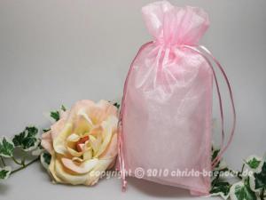 Organzasäckchen 15 x 25cm Rosa 10 Stück