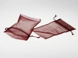 Organzasäckchen 12,5x17,5cm dunkelbordeaux 10 Stück - Geschenkband günstig online kaufen!
