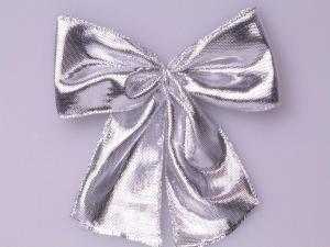 Fertigschleife 40mm silber  25 Stück selbstklebend