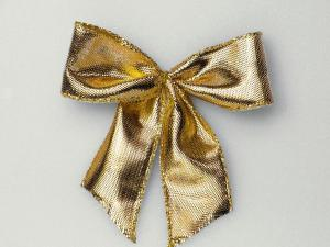 Fertigschleife 25 mm gold  25 Stück selbstklebend im Bänder Online-Shop günstig kaufen