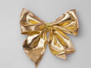 Fertigschleife 40mm gold 25 Stück selbstklebend