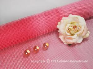 Gitterband Tischgitter Rosa ohne Draht 500mm - im Bänder Großhandel günstig kaufen!