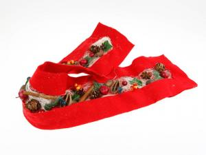Weihnachtstischläufer rot, 90cm x 15cm im Bänder Online-Shop günstig kaufen