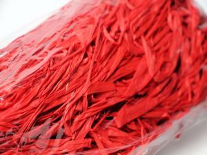 Bast-Fäden Rot ohne Draht ca. 1m