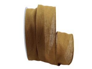 Baumwollband Cotton braun / senfgelb 40mm ohne Draht - Geschenkband günstig online kaufen!
