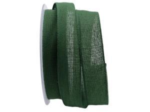 Baumwollband Cotton dunkelgrün 25mm ohne Draht - Geschenkband günstig online kaufen!