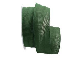Baumwollband Cotton dunkelgrün 40mm ohne Draht - Geschenkband günstig online kaufen!