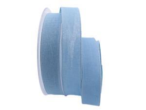 Baumwollband Cotton hellblau 25mm ohne Draht - Geschenkband günstig online kaufen!