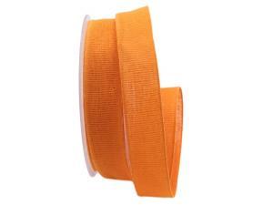 Baumwollband Cotton orange hell 25mm ohne Draht - Geschenkband günstig online kaufen!