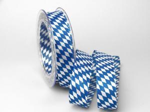 """Bayernraute"" ohne Draht, 25mm Blau/Weiß"
