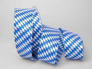 Bayernraute ohne Draht 40mm blau / weiß