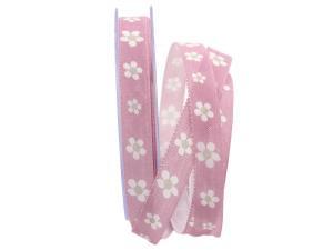 Blumenband Fiore flieder 15mm mit Angelschnur