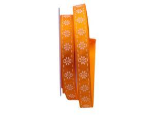 Blumenband Strappi orange 15mm ohne Draht