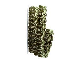 Bortenband Rustikal 25mm grün ohne Draht