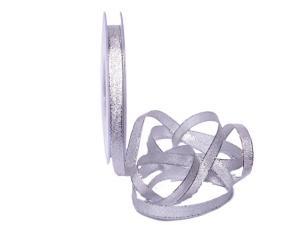 Brokatbändchen Silber 10mm ohne Draht