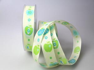 Dekoband Apfel grün 25mm mit  Draht - Geschenkband günstig online kaufen!