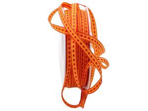 Dekoband Assegni orange ca. 6mm ohne Draht