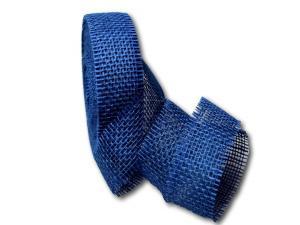 Dekoband Jute blau 40mm ohne Draht
