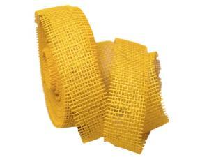 Dekoband Jute 40mm ohne Draht gelb