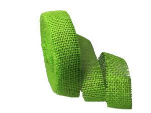 Dekoband Jute hellgrün 40mm ohne Draht