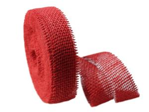Dekoband Jute rot 40mm ohne Draht - Dekoband günstig online kaufen!