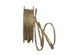 Dekoband Minna 5mm gold ohne Draht