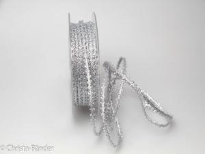Dekoband Minna 5mm silber ohne Draht - Dekoband günstig online kaufen!