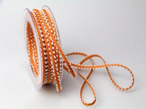 Dekoband Minna 7mm orange ohne Draht