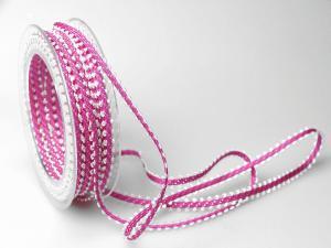 Dekoband Minna 7mm pink ohne Draht - Dekoband günstig online kaufen!