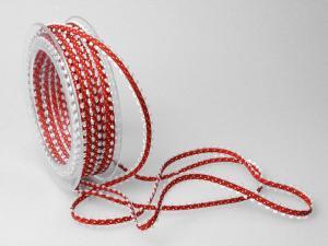 Dekoband Minna 7mm rot ohne Draht - Dekoband günstig online kaufen!